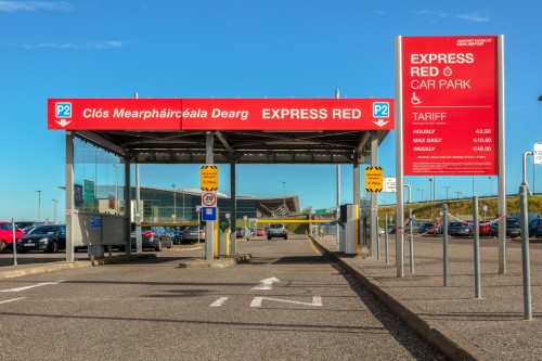 Entrance to Express Red Car Park at Cork Airport