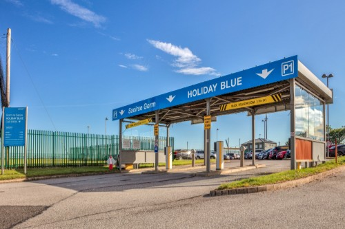 Entrance to Holiday Blue Car Park at Cork Airport