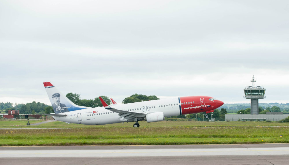 Norwegian celebrates 15th birthday with special sale offering Cork to Boston Providence flights from €99 one-way