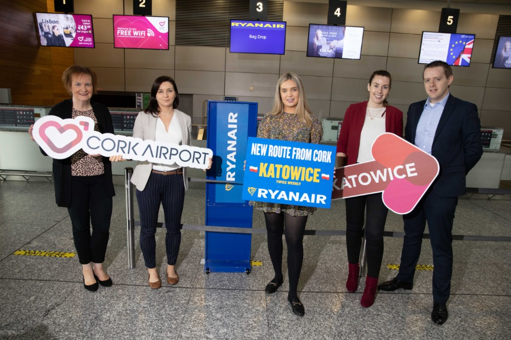 Ryanair's First Cork Flight To Katowice Takes Off