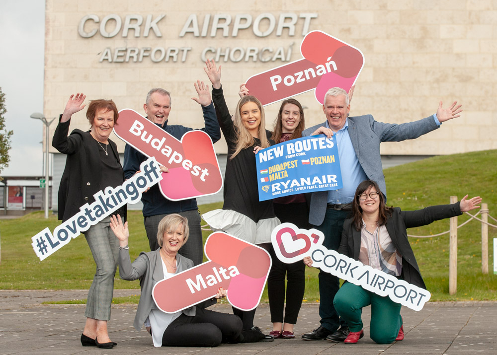 Ryanair's First Cork To Budapest, Poznan And Malta Flights Take Off
